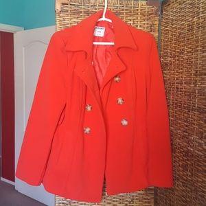 old navy red coat